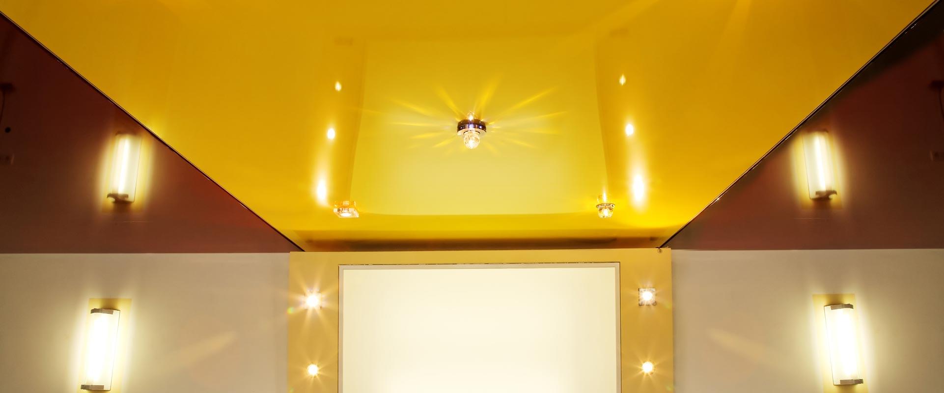 Plafond tendu et décoration